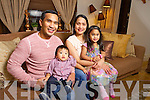 Voice of Ireland contestant Roel Villones with his wife Leslie Ann and children Abigail and Aaron at their home in Shannon Banks, Abbeydorney.