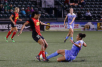 Rochester, NY - Friday July 01, 2016: Western New York Flash forward Jessica McDonald (14), Chicago Red Stars forward Cara Walls (12) during a regular season National Women's Soccer League (NWSL) match between the Western New York Flash and the Chicago Red Stars at Rochester Rhinos Stadium.