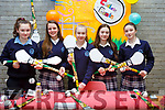 The winners of the Junior Entrepreneurs award at the Castleisland Presentation Secondary school for their Complete Coman project.  L-r, Chantelle Broderick (Castleisland), Fiona Brosnan (Currow), Tara Enright (Cordal), Katie Cotter (Castleisand) and Joanna Moynihan (Castleisland).