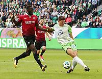 Salif Sane, Mario Gomez <br /> Soccer Football - Bundesliga - VfL Wolfsburg v Hannover 96 - Wolfsburg, Germany - September 9, 2017  *** Local Caption *** © pixathlon<br /> Contact: +49-40-22 63 02 60 , info@pixathlon.de