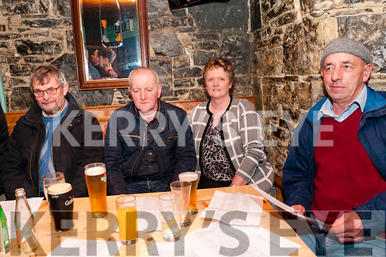 Clonmel Coursing Preview: Attenmding the Clonmel coursing preview night at the Dew Drop Inn Bar, Lixnaw on Saturday night last were Mike O'Brien, Tom & Evelyn Houlihan & Tom O'Connor,