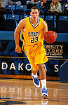 Kai Williams of South Dakota State drives down court during Midnight Madness Minus Two Friday evening at Frost Arena on the campus of South Dakota State University in Brookings, SD. (Photo By Ty Carlson/South Dakota State Sports Information)