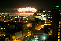 May 1992 File Photo - Montreal (Qc) CANADA - Ceremonies of Montreal 350th anniversary : fireworks
