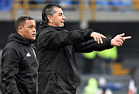 BOGOTA - COLOMBIA, 04-03-2018: Jorge Da Silva técnico de América de Cali gesticula durante partido con Millonarios por la fecha 6 de la Liga Águila I 2018 jugado en el estadio Nemesio Camacho El Campin de la ciudad de Bogotá. / Jorge Da Silva coach of America de Cali gestures during the match against Millonarios for the date 6 of the Liga Aguila I 2018 played at the Nemesio Camacho El Campin Stadium in Bogota city. Photo: VizzorImage / Gabriel Aponte / Staff.