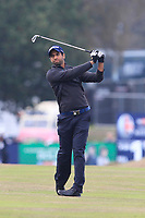 Aaron Rai (ENG) on the 13th fairway during Round 3 of the Sky Sports British Masters at Walton Heath Golf Club in Tadworth, Surrey, England on Saturday 13th Oct 2018.<br /> Picture:  Thos Caffrey | Golffile
