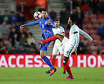 England's Nathaniel Chalobah tussles with Italy's Andreas Petagna during the Under 21 International Friendly match at the St Mary's Stadium, Southampton. Picture date November 10th, 2016 Pic David Klein/Sportimage