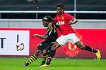 Solna 2013-08-06 Football Friendly Game , AIK - Manchester United FC :  <br /> AIK 9 Martin Kayongo Mutumba i kamp om bollen med