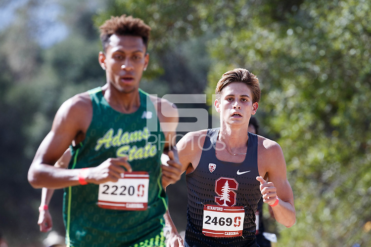 Stanford, CA - September 29, 2018: during the Stanford Cross Country Invitational held Saturday morning on the Stanford Golf course.