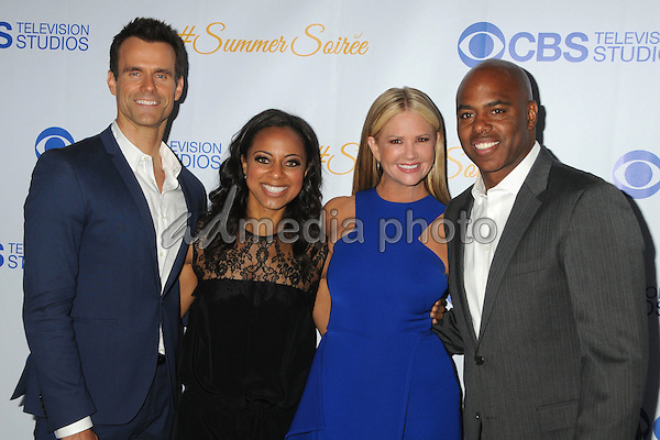 18 May 2015 - West Hollywood, California - Cameron Mathison, Nischelle Turner, Nancy O'Dell, Kevin Frazier. 3rd Annual CBS Television Studios Rooftop Summer Soiree held at The London Hotel. Photo Credit: Byron Purvis/AdMedia