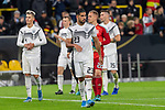 09.10.2019, Signal Iduna Park, Dortmund, GER, FSP, LS, Deutschland (GER) vs Argentinien (ARG)<br /> <br /> DFB REGULATIONS PROHIBIT ANY USE OF PHOTOGRAPHS AS IMAGE SEQUENCES AND/OR QUASI-VIDEO.<br /> <br /> im Bild / picture shows<br /> <br /> enttäuscht / enttaeuscht / traurig / Unentschieden<br /> Gestik, Mimik,<br /> Emre Can (Deutschland / GER #23)<br /> Marc-André ter Stegen (Deutschland / GER #22)<br /> Niklas Süle / Niklas Suele (Deutschland / GER #15)<br /> <br /> während Freundschaftsspiel  Deutschland gegen Argentinien   in Dortmund  am 09.10..2019,<br /> <br /> Foto © nordphoto / Kokenge