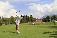 Jin Young Ko (KOR) tees off the par3 5th tee during Thursday's Round 1 of The Evian Championship 2018, held at the Evian Resort Golf Club, Evian-les-Bains, France. 13th September 2018.<br /> Picture: Eoin Clarke | Golffile<br /> <br /> <br /> All photos usage must carry mandatory copyright credit (© Golffile | Eoin Clarke)