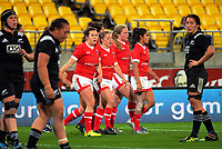 Canada walks back after the final try during the 2017 International Women's Rugby Series rugby match between the NZ Black Ferns and Canada at Westpac Stadium in Wellington, New Zealand on Friday, 9 June 2017. Photo: Dave Lintott / lintottphoto.co.nz