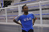 SCHAATSEN: CALGARY: Olympic Oval, 08-11-2013, Essent ISU World Cup, Shani Davis (USA), ©foto Martin de Jong