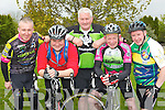 Noel O?Shea Newcastle West, Tadhg O?Sullivan, Kevin O?Donoghue, James Looney and Cormac Leane all Killarney who competed in the Barradubh cycle race on Sunday