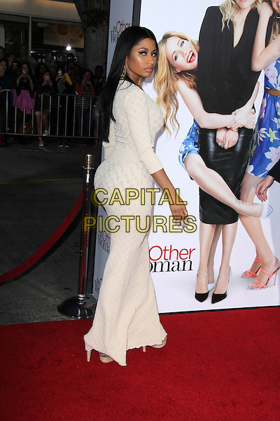 WESTWOOD, CA - April 21: Nicki Minaj at the &quot;The Other Woman&quot; Los Angeles Premiere, Village Theater, Westwood,  April 21, 2014.  <br /> CAP/MPI/JO<br /> &copy;Janice Ogata/MediaPunch/Capital Pictures