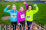 Kate  Kerins, Sarah Costello and Eadrea Hayes at the Kerins O'Rahilly's '1916' 10k Run on Sunday
