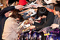 "April 12, 2012, Tokyo, Japan - Johnny Depp sings autographs to their fans at Roppongi Hills for the Japan Premier of ""Dark Shadows"". ""Dark Shadows"" starts showing in Japan on May 19, 2012.."