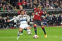 Sonny Kittel (Eintracht) zieht ab gegen Juan Bernat (Bayern) - Eintracht Frankfurt vs. FC Bayern München, Commerzbank Arena