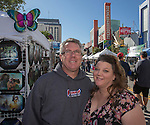 Francis Collins and Michelle Austin from Walnut Creek, CA attend the 35th Annual Eldorado Great Italian Festival held in downtown Reno on Saturday, October 8, 2016.