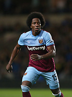 West Ham United's Carlos Sanchez<br /> <br /> Photographer Rob Newell/CameraSport<br /> <br /> The Carabao Cup Third Round - Oxford United v West Ham United - Wednesday 25th September 2019 - Kassam Stadium - Oxford<br />  <br /> World Copyright © 2019 CameraSport. All rights reserved. 43 Linden Ave. Countesthorpe. Leicester. England. LE8 5PG - Tel: +44 (0) 116 277 4147 - admin@camerasport.com - www.camerasport.com