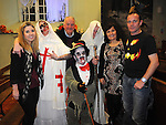 Organizers of the Halloween horror story telling in Ardee Castle. Photo:Colin Bell/pressphotos.ie