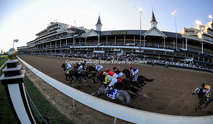 September 5, 2020: Authentic, #18, ridden by jockey John Valezquez, wins the 146th running of the Kentucky Derby. The races are being run without fans due to the coronavirus pandemic that has gripped the world and nation for much of the year, with only essential personnel, media and ownership connections allowed to attend at Churchill Downs in Louisville, Kentucky. Scott Serio/Eclipse Sportswire/CSM