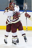 Jimmy Hayes (BC - 10), Ben Smith (BC - 12) - The Boston College Eagles defeated the Yale University Bulldogs 9-7 in the Northeast Regional final on Sunday, March 28, 2010, at the DCU Center in Worcester, Massachusetts.