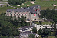 Aerial view of the Celtic Manor Hotel and Golf Course which will be hosting the 2010 Ryder Cup