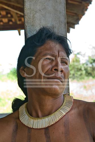 Mato Grosso State, Brazil. Aldeia Metuktire. Benajure Nokere Tapayuna.