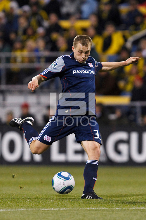 8 MAY 2010:  New England Revolutions' Zak Boggs (33) during MLS soccer game between New England Revolution vs Columbus Crew at Crew Stadium in Columbus, Ohio on May 8, 2010.