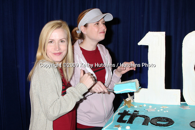 "Angela Kinsey & Jenna Fischer  100th Episode of ""The Office""  On Location at Calamigos Ranch in Malibu , CA on April 14, 2009.©2009 Kathy Hutchins / Hutchins Photo....                ."