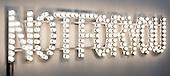 "London, England. 14 October 2014. ""Not For You"" 2006, by Monica Bonvicini, Galerie Peter Kilchmann. Frieze Art Fair 2014 opens in Regent's Park, London. Photo: Bettina Strenske"