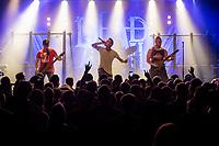 Die schwedische Melodic Metal-Band &quot;Dead by April&quot; spielte am Dienstag den 5. September 2017 im Berliner Club SO36.<br /> Im Bild vlnr.: Bassist Marcus Wesslen, Frontmann und Growl-Saenger  Jimmie Strimell, Gitarrist und Saenger  Pontus Hjelm.<br /> 5.9.2017, Berlin<br /> Copyright: Christian-Ditsch.de<br /> [Inhaltsveraendernde Manipulation des Fotos nur nach ausdruecklicher Genehmigung des Fotografen. Vereinbarungen ueber Abtretung von Persoenlichkeitsrechten/Model Release der abgebildeten Person/Personen liegen nicht vor. NO MODEL RELEASE! Nur fuer Redaktionelle Zwecke. Don't publish without copyright Christian-Ditsch.de, Veroeffentlichung nur mit Fotografennennung, sowie gegen Honorar, MwSt. und Beleg. Konto: I N G - D i B a, IBAN DE58500105175400192269, BIC INGDDEFFXXX, Kontakt: post@christian-ditsch.de<br /> Bei der Bearbeitung der Dateiinformationen darf die Urheberkennzeichnung in den EXIF- und  IPTC-Daten nicht entfernt werden, diese sind in digitalen Medien nach &sect;95c UrhG rechtlich geschuetzt. Der Urhebervermerk wird gemaess &sect;13 UrhG verlangt.]