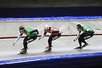 SCHAATSEN: HEERENVEEN: Thialf, 25-06-2012, Zomerijs, TVM schaatsploeg, Douwe de Vries, Konrad Niedzwiedzki, Sven Kramer, ©foto Martin de Jong
