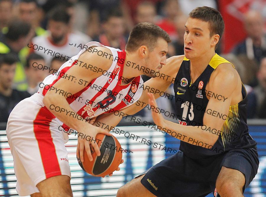 Kosarka Euroleague season 2015-2016<br /> Euroleague <br /> Crvena Zvezda v Fenebahce Istanbul<br /> Marko Guduric and Bogdan Bogdanovic (R)<br /> Beograd, 06.11.2015.<br /> foto: Srdjan Stevanovic/Starsportphoto &copy;