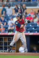 Ben Gamel (6) of the Scranton/Wilkes-Barre RailRiders at bat against the Durham Bulls at Durham Bulls Athletic Park on May 15, 2015 in Durham, North Carolina.  The RailRiders defeated the Bulls 8-4 in 11 innings.  (Brian Westerholt/Four Seam Images)