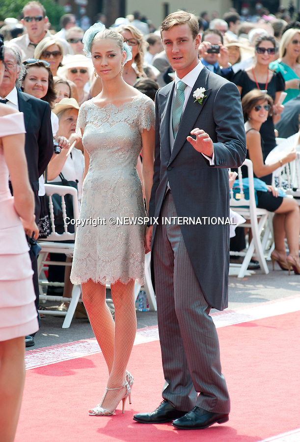 """MONACO ROYAL WEDDING .Pierre Casiraghi and Beatrice Borromeo..Guests Arrive at the Religious wedding of H.S.H Prince Albert II and Miss Charlene Wittstock in the Prince's Palace._Prince's Palace Monaco 01/07/2011..Mandatory Photo Credit: ©Dias/Newspix International..**ALL FEES PAYABLE TO: """"NEWSPIX INTERNATIONAL""""**..PHOTO CREDIT MANDATORY!!: NEWSPIX INTERNATIONAL(Failure to credit will incur a surcharge of 100% of reproduction fees)..IMMEDIATE CONFIRMATION OF USAGE REQUIRED:.Newspix International, 31 Chinnery Hill, Bishop's Stortford, ENGLAND CM23 3PS.Tel:+441279 324672  ; Fax: +441279656877.Mobile:  0777568 1153.e-mail: info@newspixinternational.co.uk"""