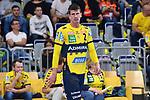 Rhein Neckar Loewe Andy Schmid (Nr.2) ist skeptisch beim Spiel in der Handball Bundesliga, Rhein Neckar Loewen - VfL Gummersbach.<br /> <br /> Foto &copy; PIX-Sportfotos *** Foto ist honorarpflichtig! *** Auf Anfrage in hoeherer Qualitaet/Aufloesung. Belegexemplar erbeten. Veroeffentlichung ausschliesslich fuer journalistisch-publizistische Zwecke. For editorial use only.