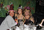 Anne Sayre (As The World Turns) poses with new friends Carla Macrdeon (from Portugal) and Michelle Alvarez (Miami) at The Times Square Broadway Royale on New Years Eve 2014 at the legendary Copacabana, New York City, New York. (Photo by Sue Coflin/Max Photos)