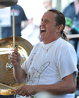 COCONUT CREEK, FL - OCTOBER 13 : Nicko McBrain of Iron Maiden performs at his Restaurant Rock N Roll Ribs on October 13, 2012 in Coconut Creek , Florida.© mpi04/MediaPunch Inc. /NortePhotoAgency