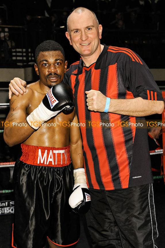 Matthew Chanda (black shorts) defeats Dmitrijs Gutmans - Boxing at York Hall, London - 09/03/15 - MANDATORY CREDIT: Bernard Miller/TGSPHOTO - Self billing applies where appropriate - 0845 094 6026 - contact@tgsphoto.co.uk - NO UNPAID USE