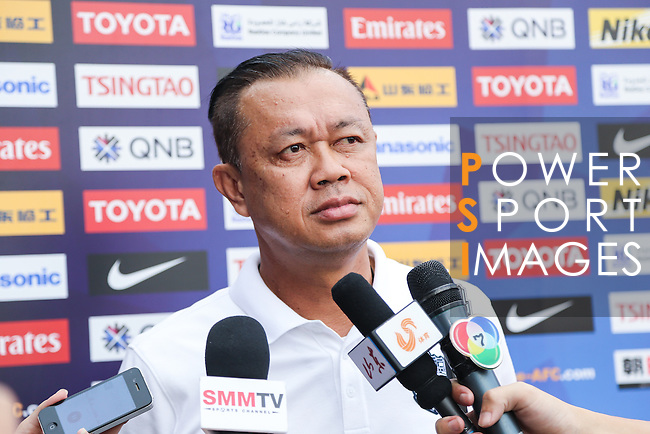 Pre-match press conference of the 2016 AFC Champions League Group F Match Day 6 match between BURIRAM UNITED (THA) vs SHANDONG LUNENG FC (CHN) on 03 May 2016, one day before the match in Buriram, Thailand.