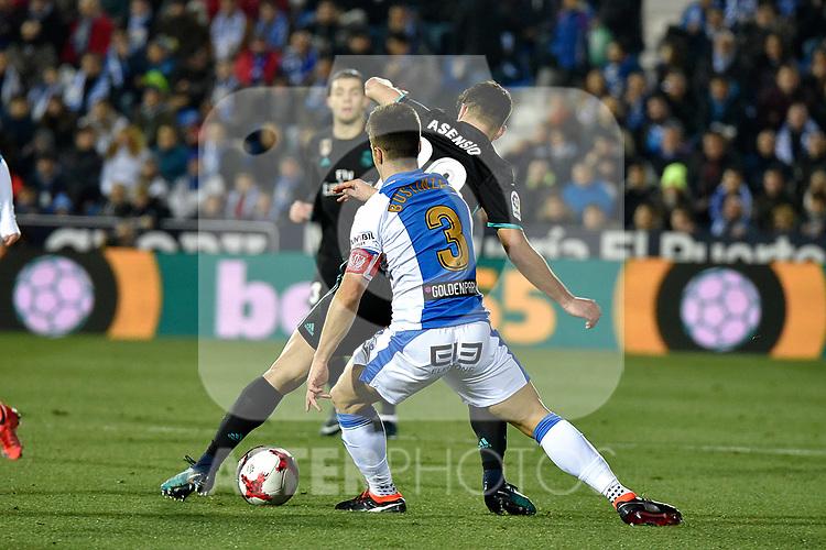 Leganes Unai Bustinza vs Real Madrid during Copa del Rey  match. A quarter of final go. 20180118.
