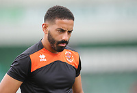 Blackpool's Liam Feeney during the pre-match warm-up <br /> <br /> Photographer Kevin Barnes/CameraSport<br /> <br /> The EFL Sky Bet League One - Plymouth Argyle v Blackpool - Saturday 15th September 2018 - Home Park - Plymouth<br /> <br /> World Copyright &copy; 2018 CameraSport. All rights reserved. 43 Linden Ave. Countesthorpe. Leicester. England. LE8 5PG - Tel: +44 (0) 116 277 4147 - admin@camerasport.com - www.camerasport.com
