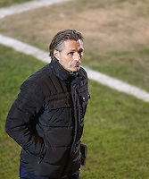 Wycombe Wanderers Manager Gareth Ainsworth who will watch the match from the stands as he serves a one match ban before the Sky Bet League 2 match between Colchester United and Wycombe Wanderers at the Weston Homes Community Stadium, Colchester, England on 21 February 2017. Photo by Andy Rowland / PRiME Media Images.