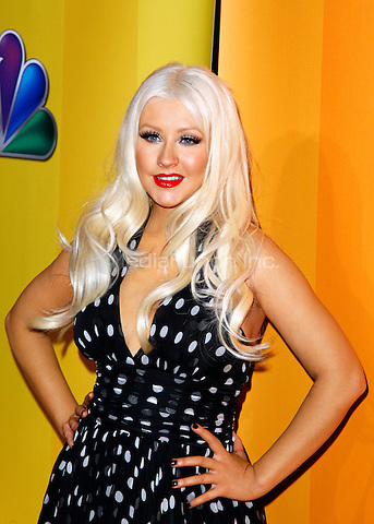 Recording Artist Christina Aguilera pictured at The 2011/12 NBC Primetime Preview at Hilton 6th Ave, New York City, May 16, 2011 © Martin Roe / MediaPunch Inc.