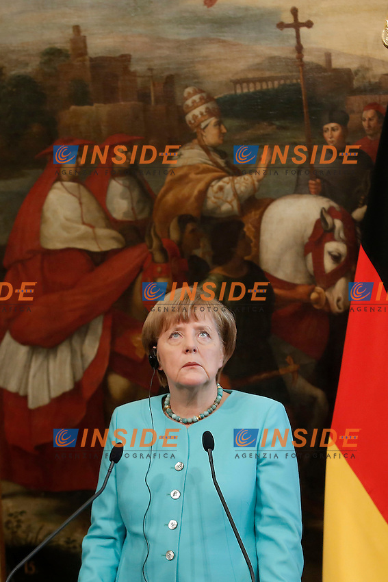 Angela Merkel<br /> Roma 05-05-2016 Palazzo Chigi. Il Premier italiano incontra la Cancelliera tedesca.<br /> Italian premier meets the Deutch Cancellor.<br /> Photo Samantha Zucchi Insidefoto