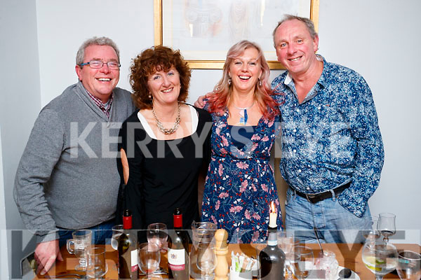 Donal O'Connor, Yvonne O'Brien, Marie O'Connor and Ed O'Brien, all from Tralee, enjoying a night out in Bella Bia on Saturday night last.
