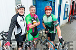 Joe Quill, Aidan Bergin and Mike Doherty, Killarney, pictured at the Ring of Beara Cycle in Kenmare on Saturday morning last.