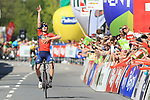Cycling Tour of the Alps 2018; <br /> Stage 5 between Rattenberg and Innsbruck on April 20, 2018 in Innsbruck, Austria; French Thibaut Pinot (Groupama-FDJ) wins the Tour of the Alps 2018. Ukraine's Mark Padun (Bahrain - Merida)